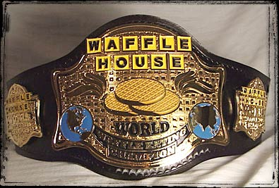 someone bought this classic waffle house championship belt