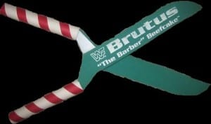 Brutus The Barber Beefcake foam scissors