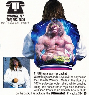 Ultimate Warrior satin jacket