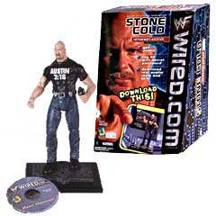 Steve Austin Interactive Figure item with whole box