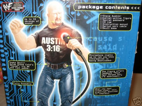 Steve Austin interacive figure box