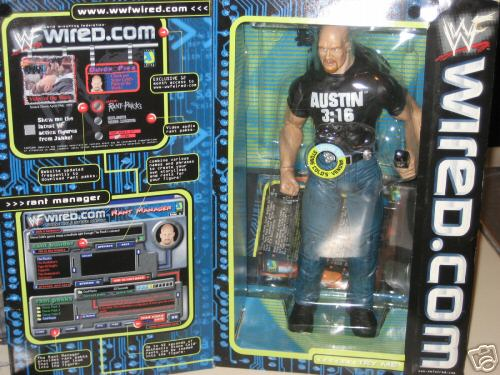 Steve Austin interactive figure in box front