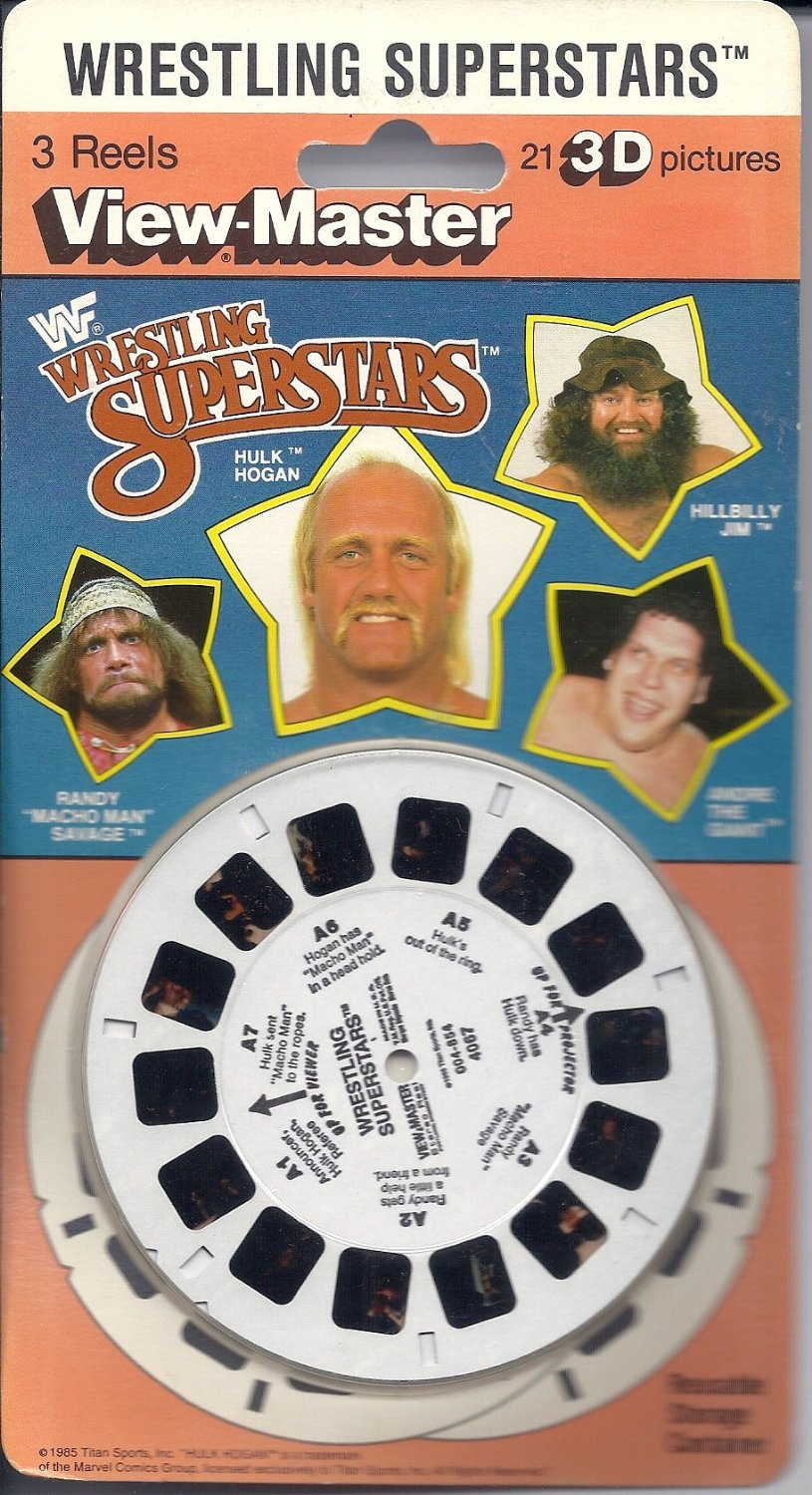WWF View-Master reels in box