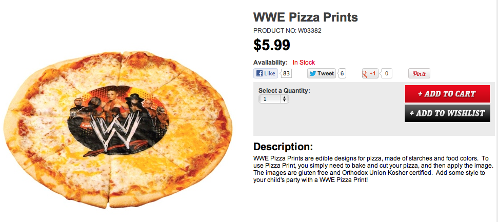 WWE Pizza Prints