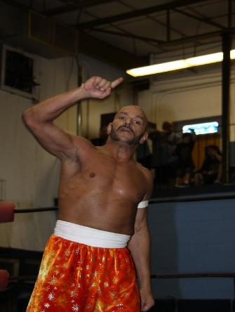 Sabu shaved head