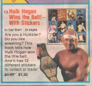 Hulk Hogan Sticker book