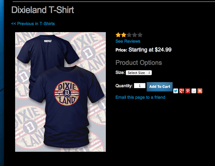 Dixie Carter Dixieland t-shirt