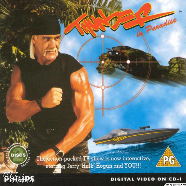Hulk Hogan Thunder In Paradise Interactive Video Game cover box