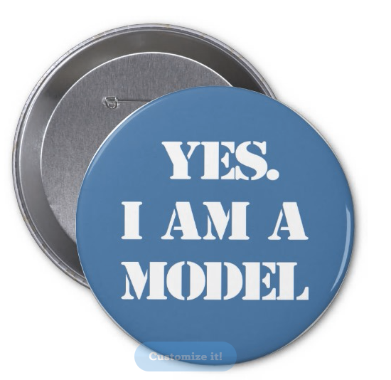 Yes, I Am A Model button