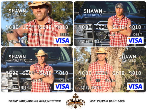 Shawn Michaels Pre-Paid Visa Gift Cards