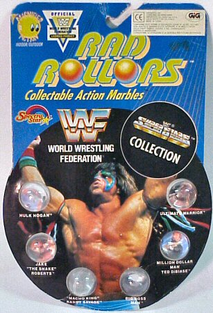 WWF Rad Rollers Marbles