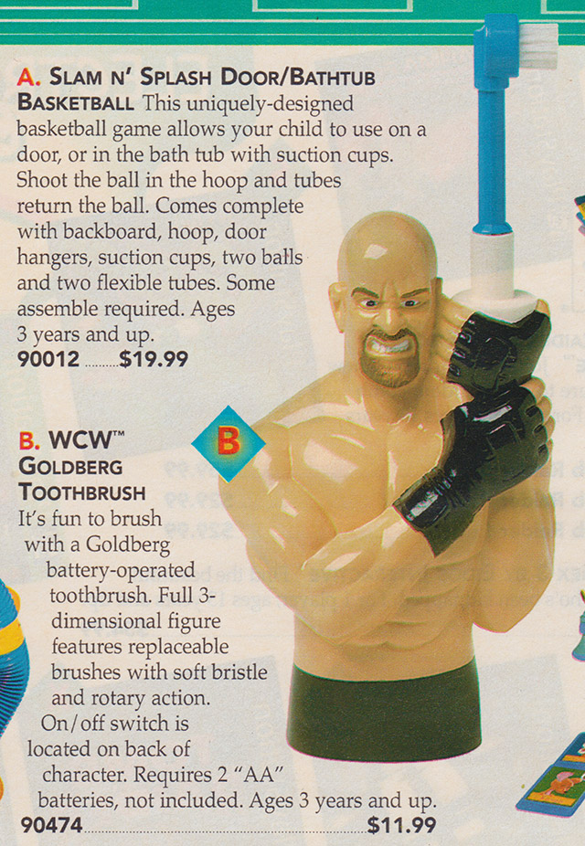 Bill Goldberg Electric Toothbrush Sears Wishbook catalog 1999