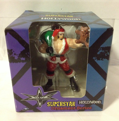 WCW Hollywood Hogan Christmas Ornament boxed