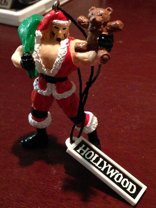 WCW Hulk Hogan Christmas Ornament