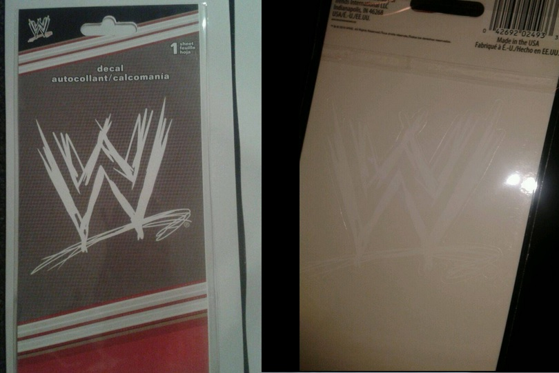 WWE Car Window decal sticker