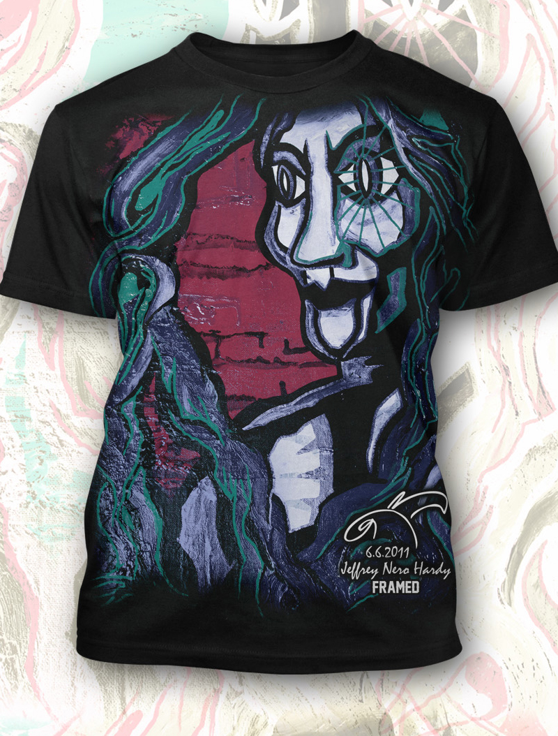 Jeff Hardy Shirts Jeff Hardy Framed Shirt