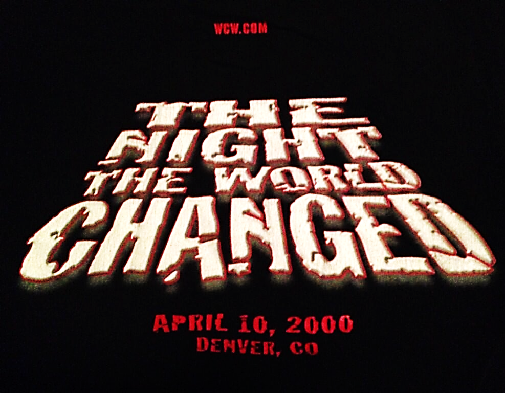 WCW Monday Nitro April 10th 2000 shirt back