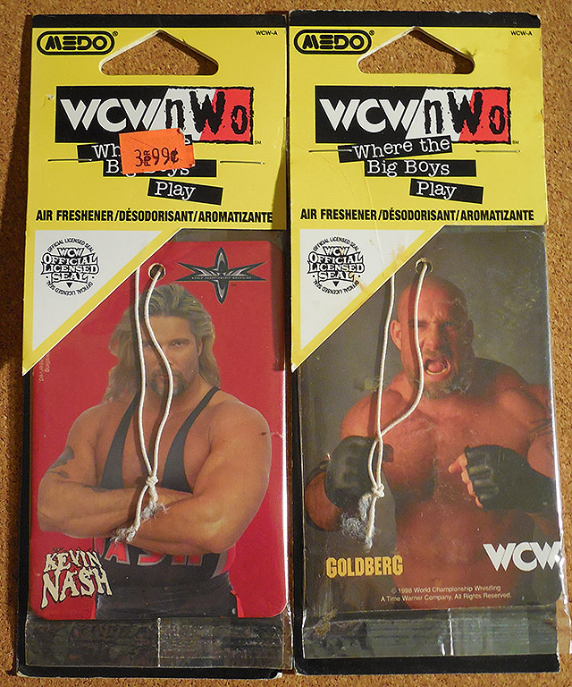 WCW NWO Kevin Nash Bill Goldberg Air Fresheners