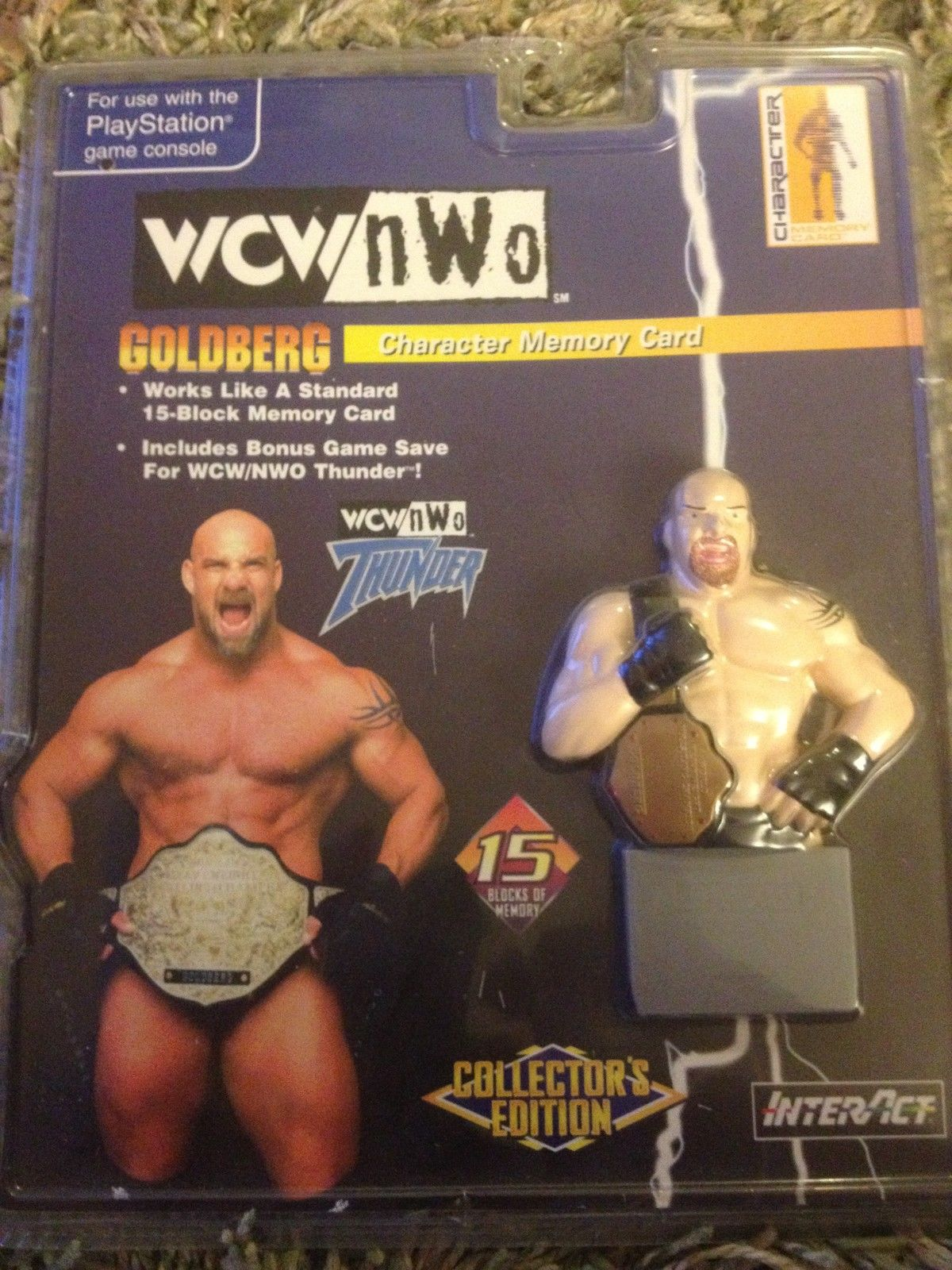 WCW Thunder Bill Goldberg Sony Playstation Memory Card box