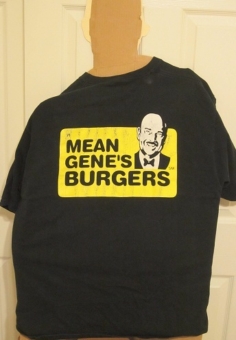 Mean Gene's Burgers shirt front