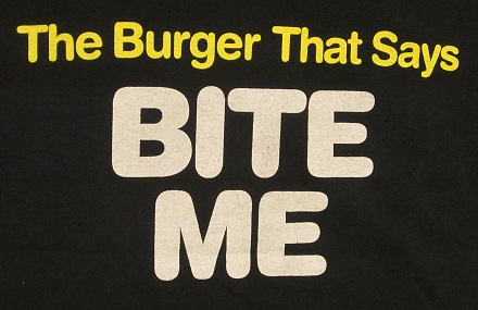 Mean Gene's burgers shirt back