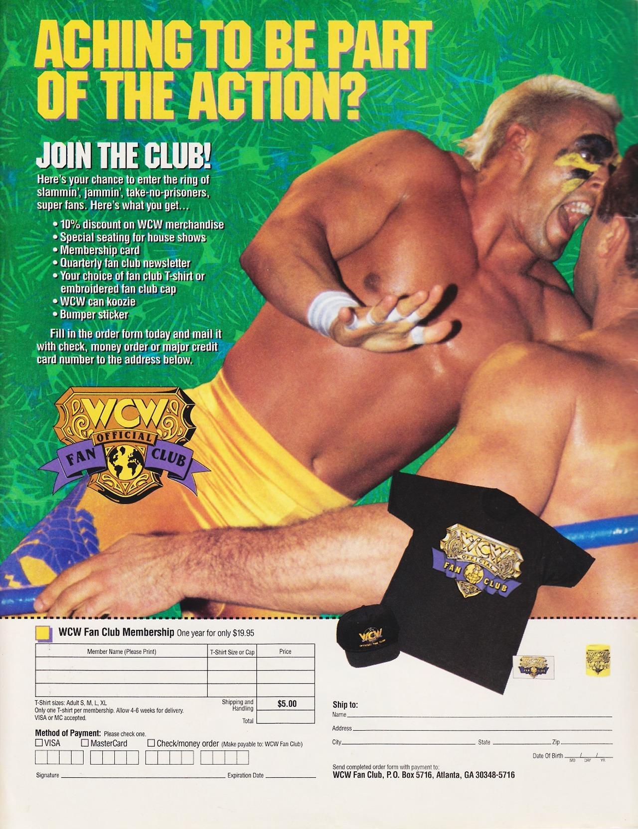 WCW Fan Club 1992 ad