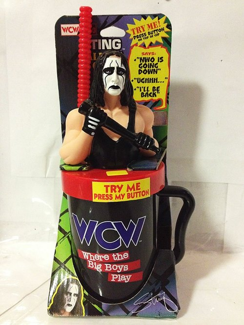 WCW Talking Sting Mug