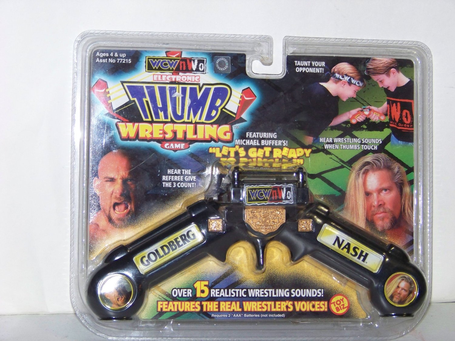 WCW Thumb Wrestlers Goldberg and Kevin Nash