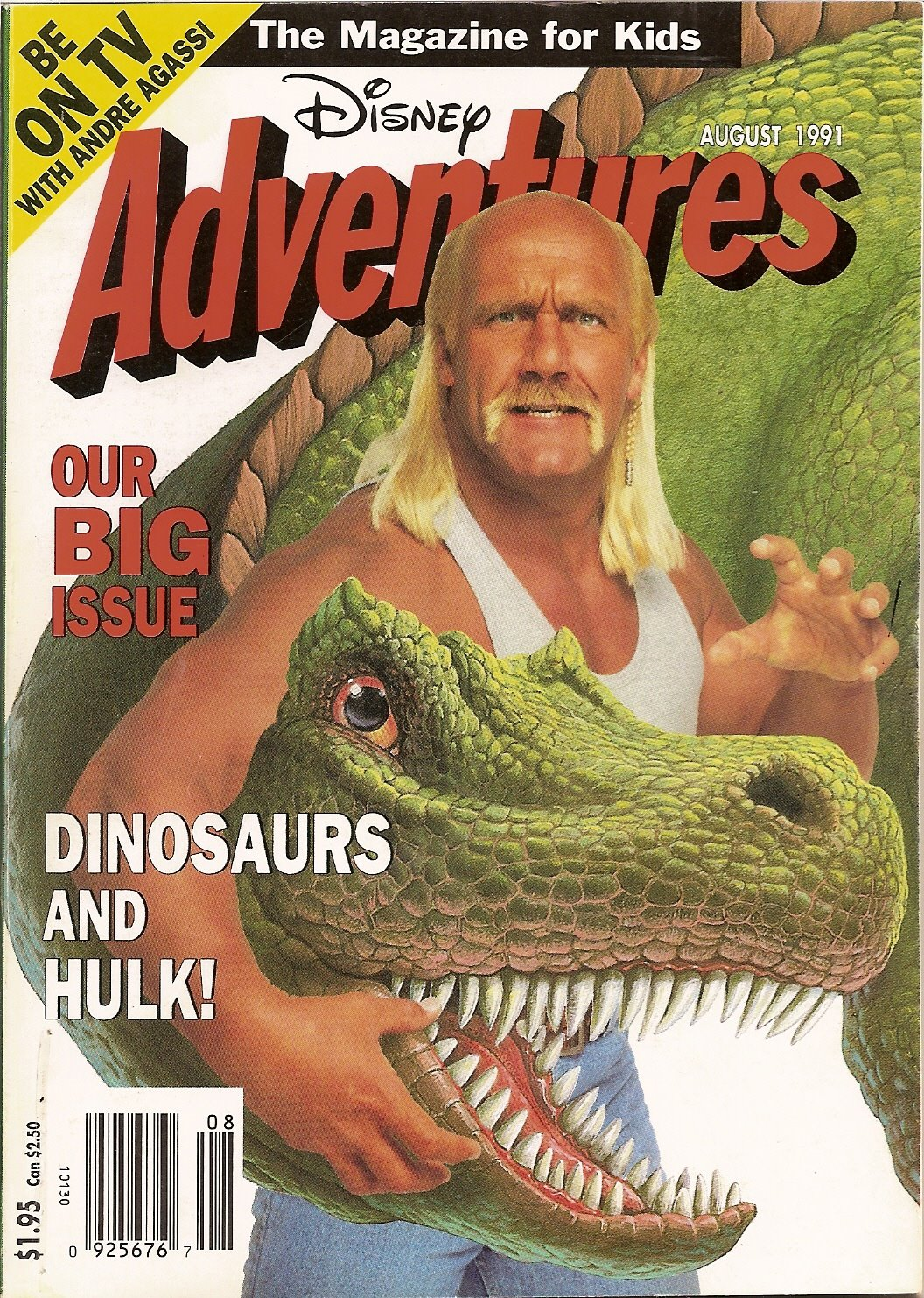 Disney Adventures Magazine Hulk Hogan Dinosaurs