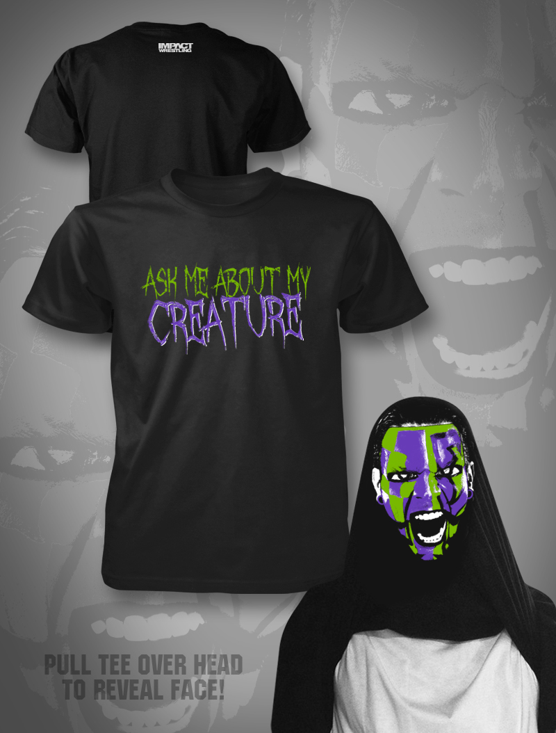 TNA Jeff Hardy Creature inside out shirt