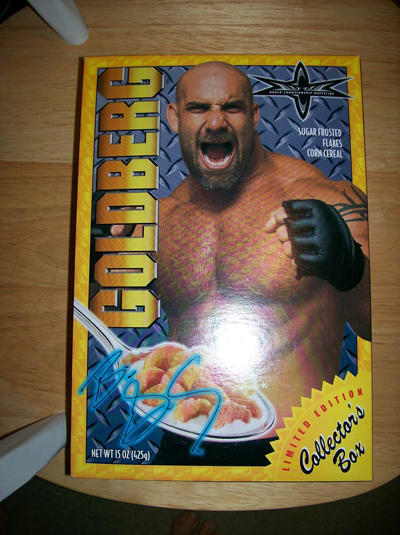 WCW Bill Goldberg cereal