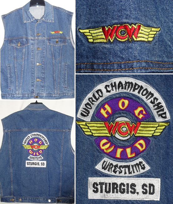 WCW Hog Wild denim vest