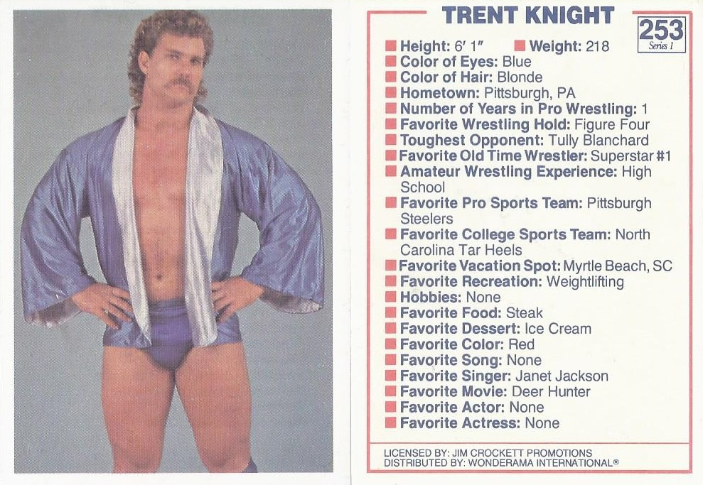 Trent Knight NWA trading card