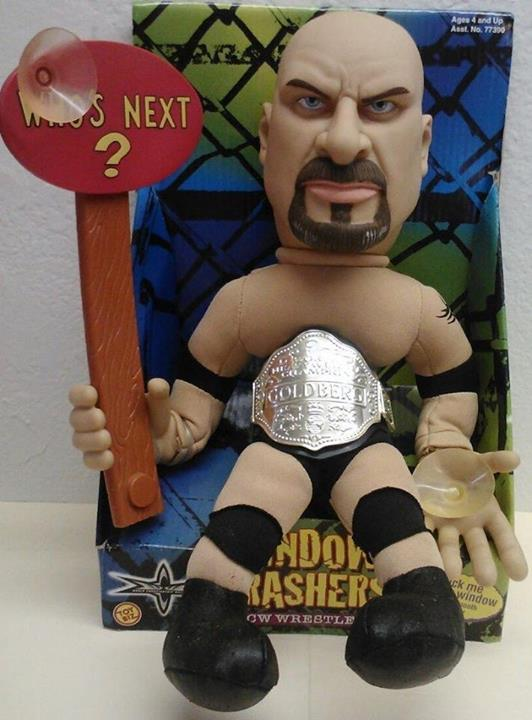 WCW Window Crasher Bill Goldberg Suction Cup