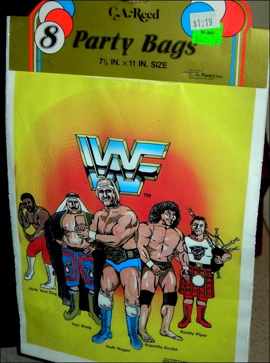 WWF Party Favor Bags 80's