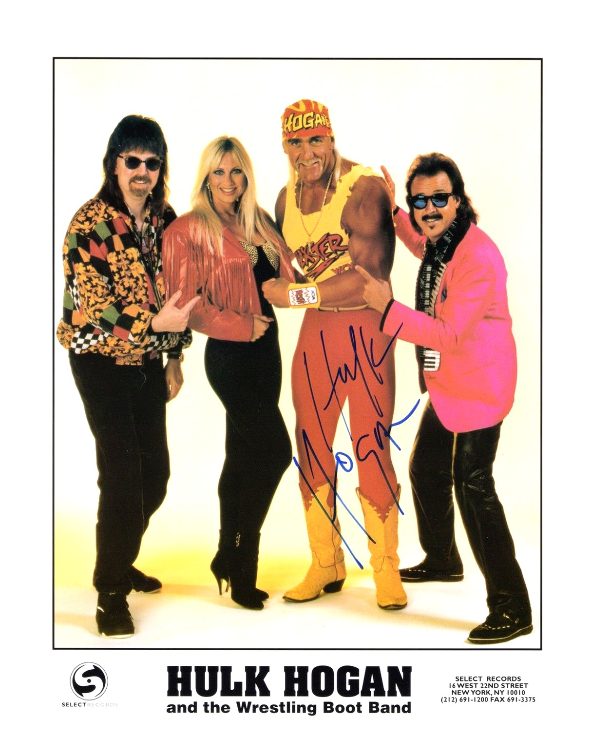 Hulk Hogan And The Wrestling Boot Band promotional photo