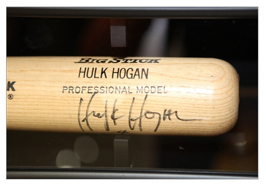 Hulk Hogan NWO signed baseball bat 2