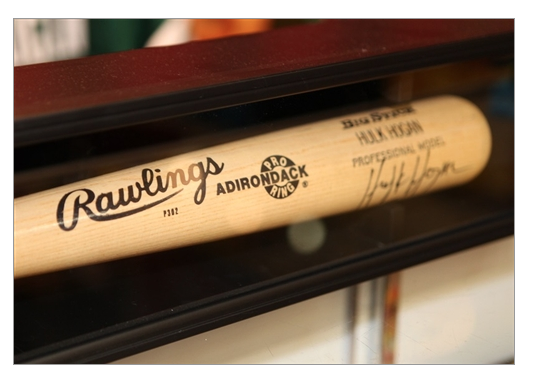 Hulk Hogan NWO signed baseball bat