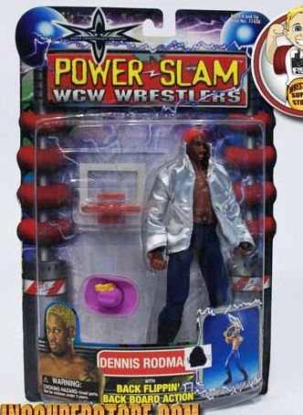 WCW Dennis Rodman Green Hair figure