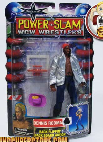 WCW Dennis Rodman Orange Hair figure