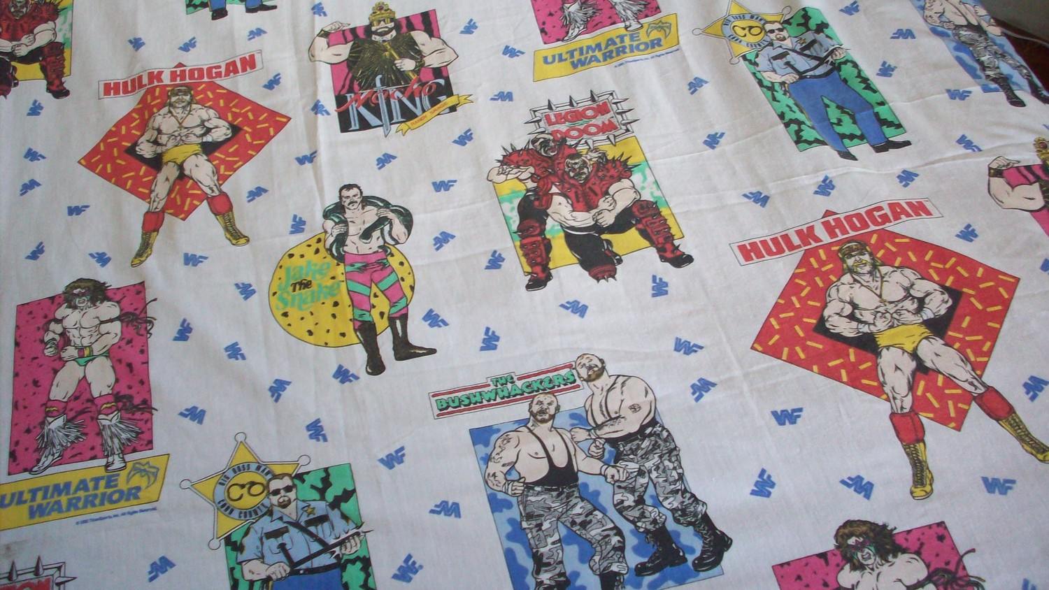 WWF Bedding Sheets 1991