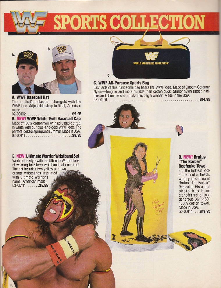 WWF Brutus The Barber Beefcake towel
