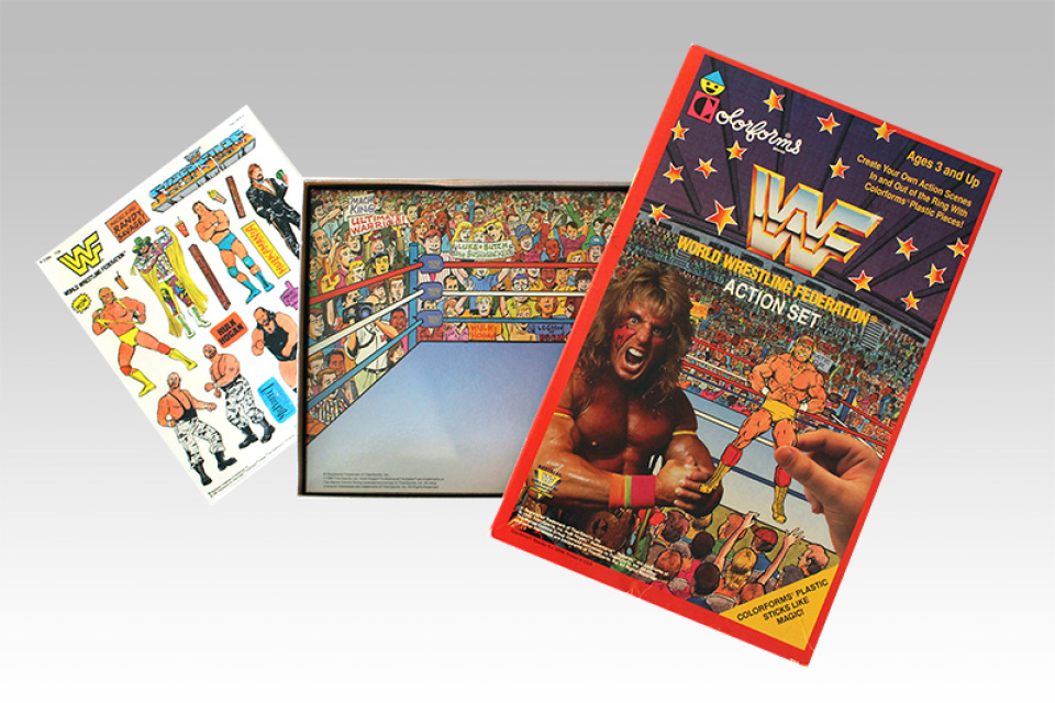 WWF Colorforms Action Set spread out