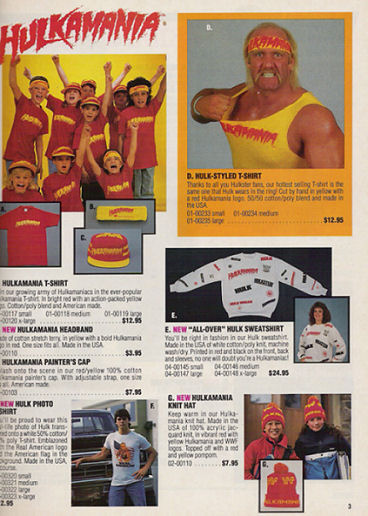 WWF Hulk Hogan All Over Sweatshirt Catalog
