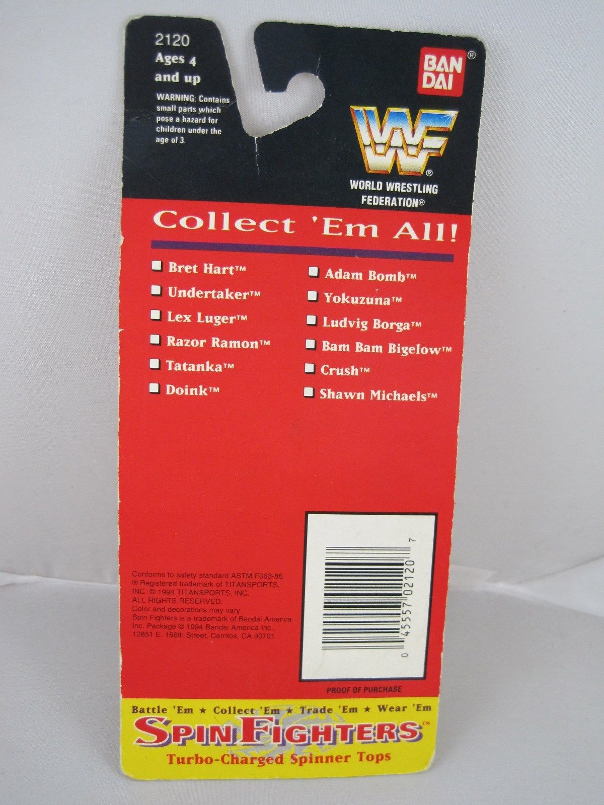 WWF Spin fighters toy 5