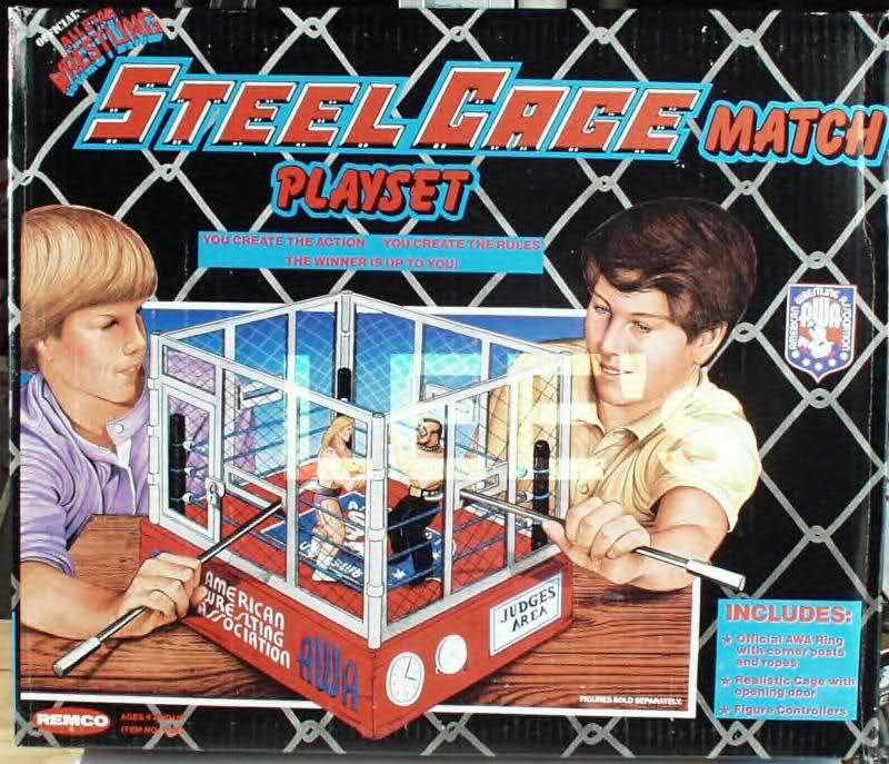 AWA Remco Steel Cage Match playset