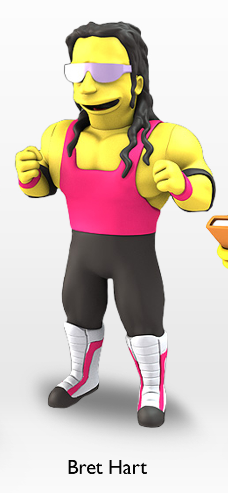 Bret Hart Simpsons figure