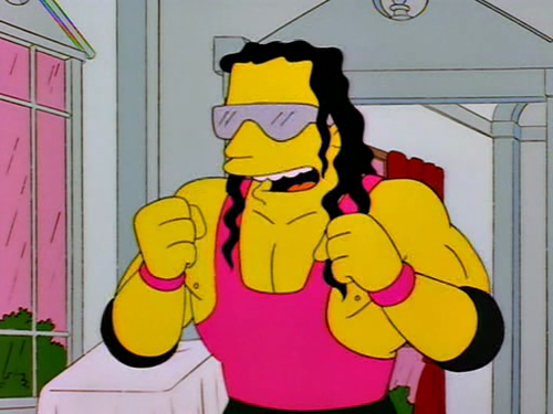 Bret Hart on The Simpsons