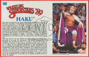 Haku card from LJN figure