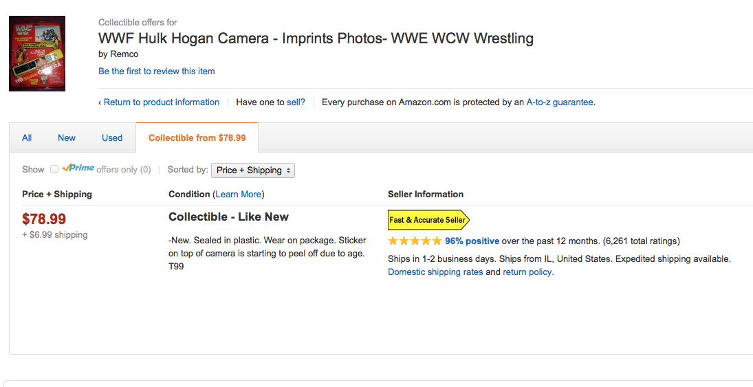 Hulk Hogan camera Amazon Marketplace